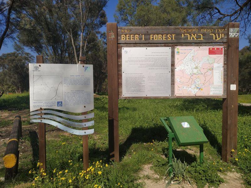 טיול בדרך מתקני המים ביער בארי